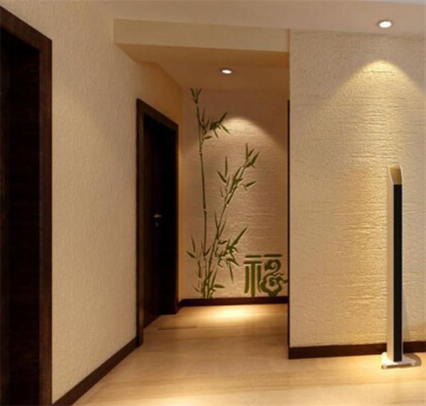 硅藻泥背景墙之玄关装修效果图